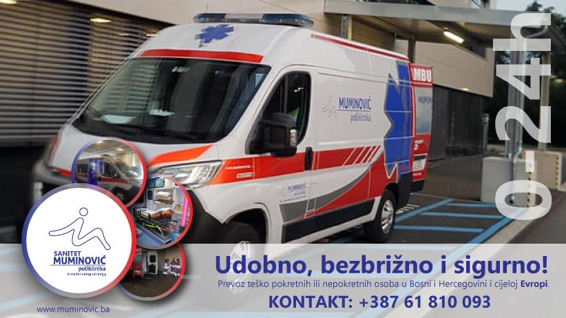 Sanitetski prijevoz   Krankentransport: Sanitet Muminovic - Dostupni za cijelu Evropu